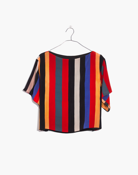 Whit® Silk Neil Tee in Camera Stripe in multi stripe image 4