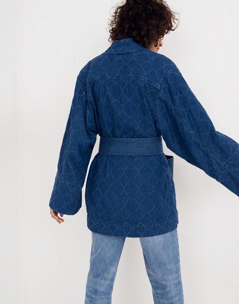 Whit® Denim Kimono Jacket in indigo image 3