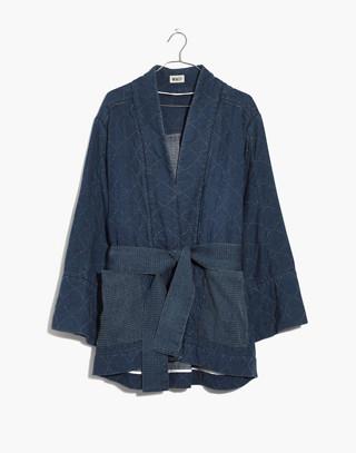 Whit® Denim Kimono Jacket in indigo image 1