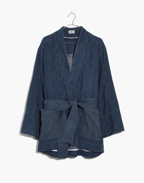 Whit® Denim Kimono Jacket in indigo image 4