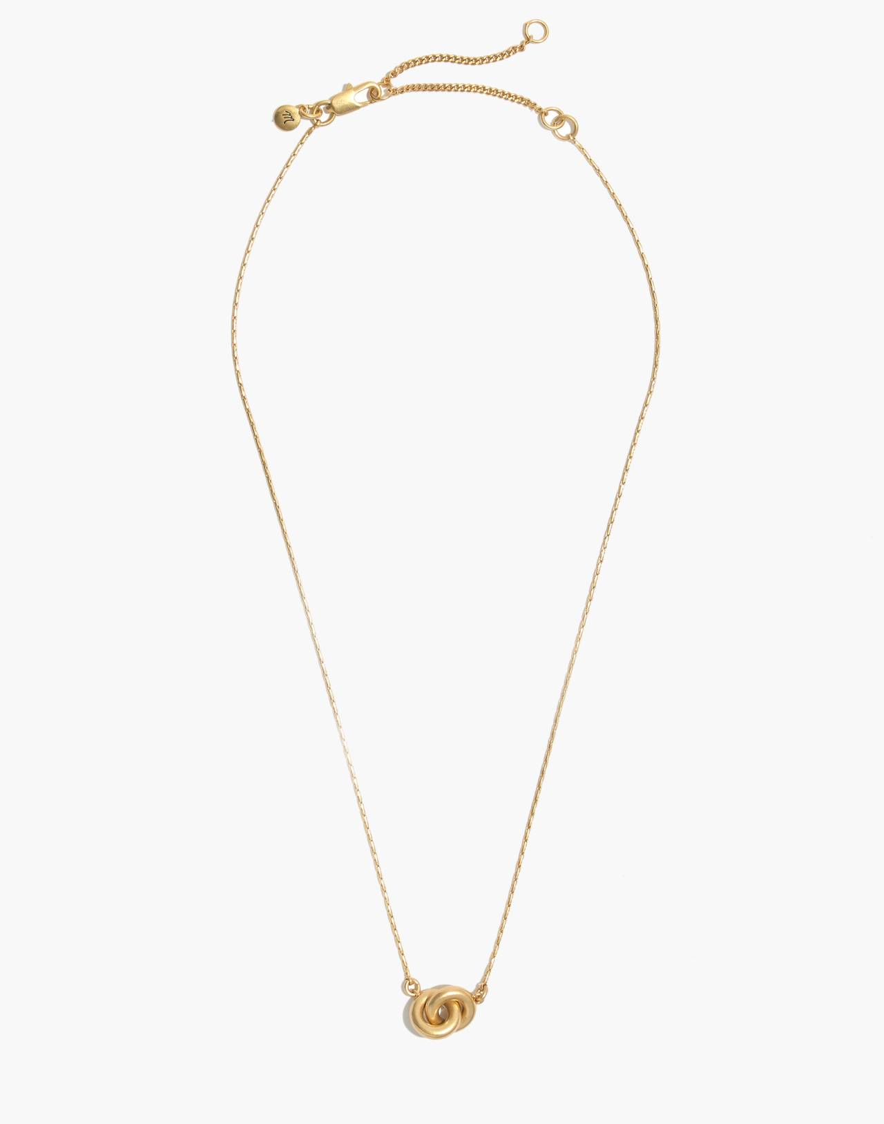 Double Link Necklace in vintage gold image 2