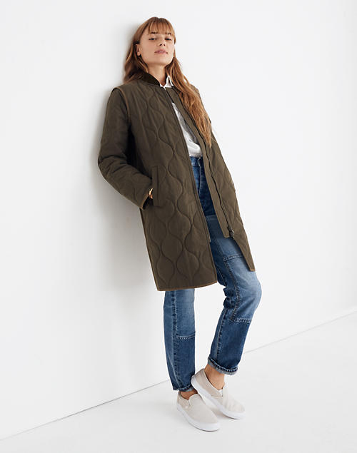 Long Quilted Parka