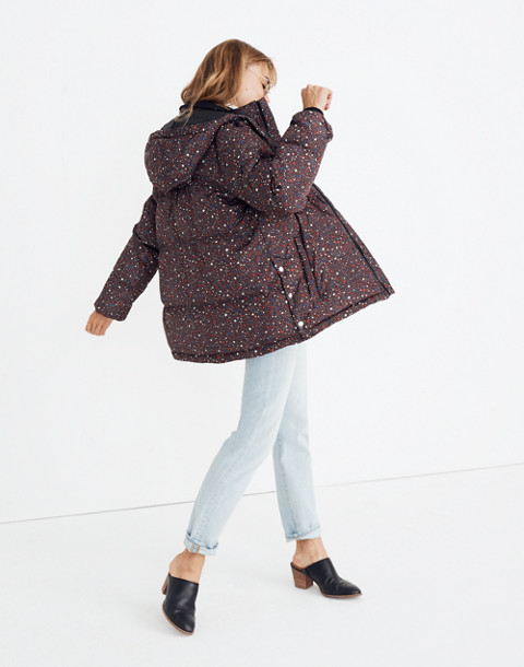 Quilted Puffer Parka in Starry Night in starry dark mediterranean image 2