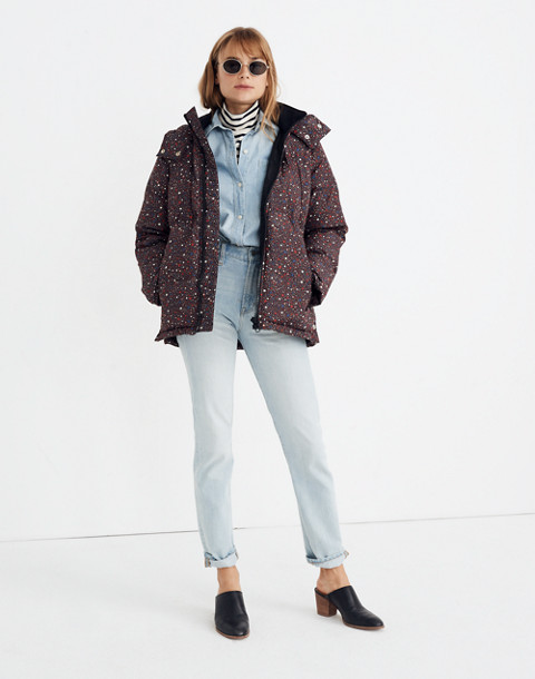 Quilted Puffer Parka in Starry Night in starry dark mediterranean image 3
