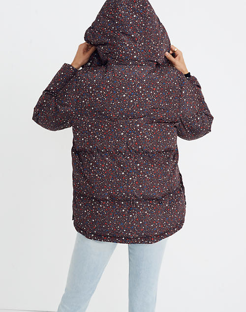 c7c7881f8ce Quilted Puffer Parka in Starry Night