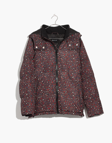 Quilted Puffer Parka in Starry Night in starry dark mediterranean image 4
