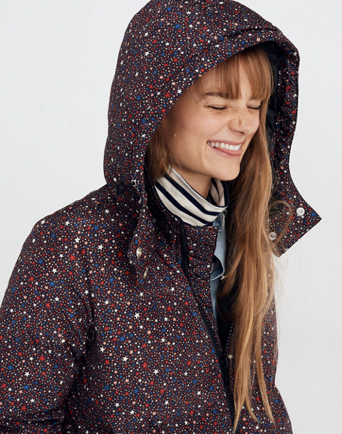 Quilted Puffer Parka in Starry Night in starry dark mediterranean image 1