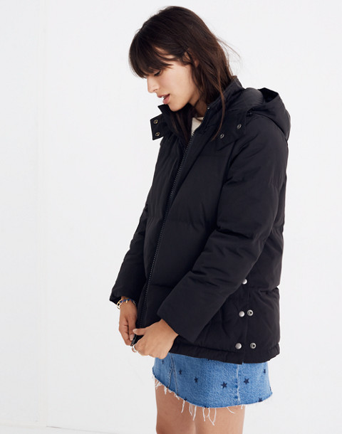 Quilted Puffer Parka in true black image 2