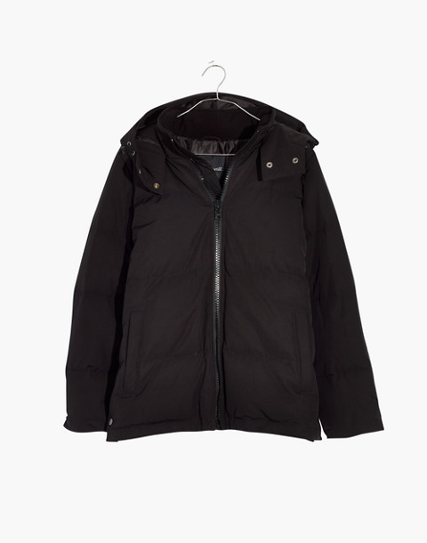 Quilted Puffer Parka in true black image 4