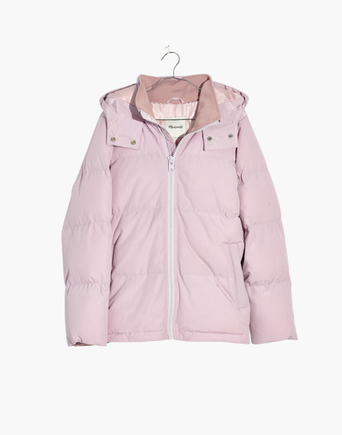 Quilted Puffer Parka in marble lilac image 1