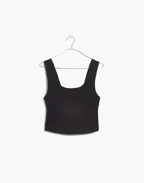 Structured Crop Top in classic black image 4