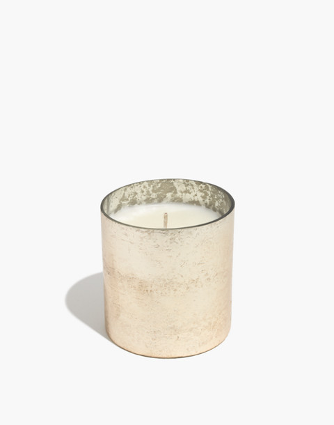 Small Matte Metallic Glass Candle in rosewood cassis image 1