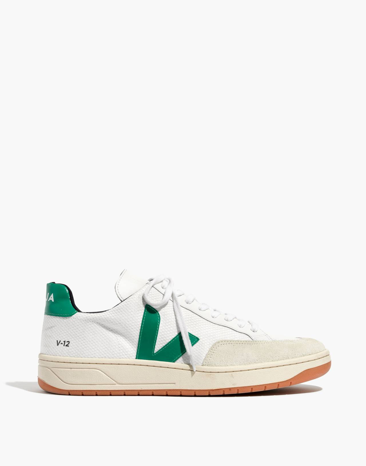 Veja™ Men's V-12 Sneakers in white green image 1