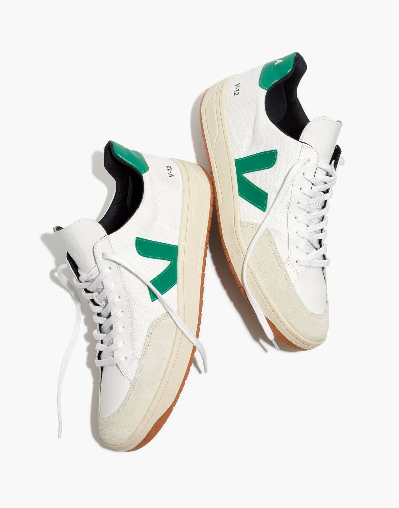 Veja™ Men's V-12 Sneakers in white green image 2