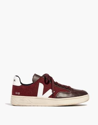 Veja™ Men's V-12 Sneakers in burgundy white image 1