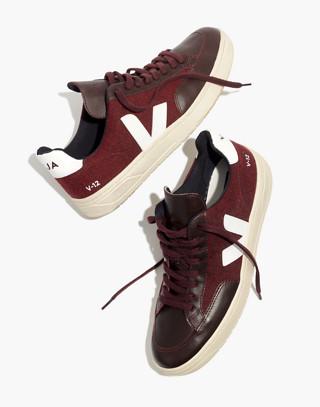 Veja™ Men's V-12 Sneakers in burgundy white image 2