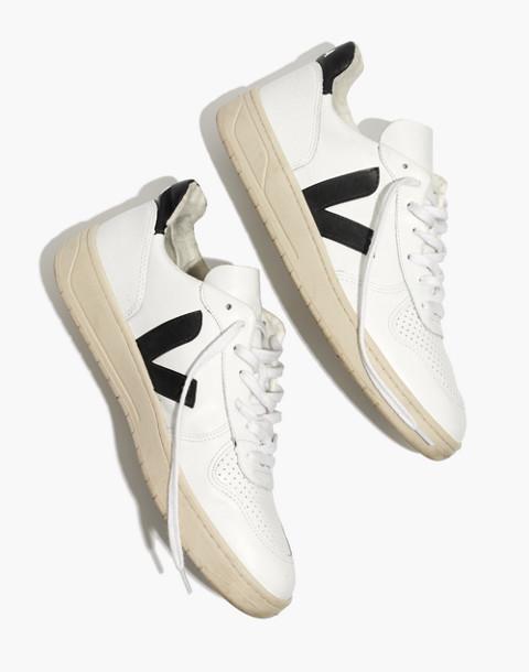 Veja™ Men's V-10 Sneakers in white black image 2