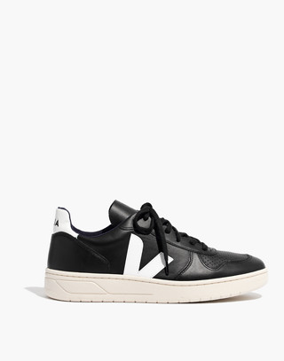 Veja™ Men's V-10 Sneakers in black white image 1
