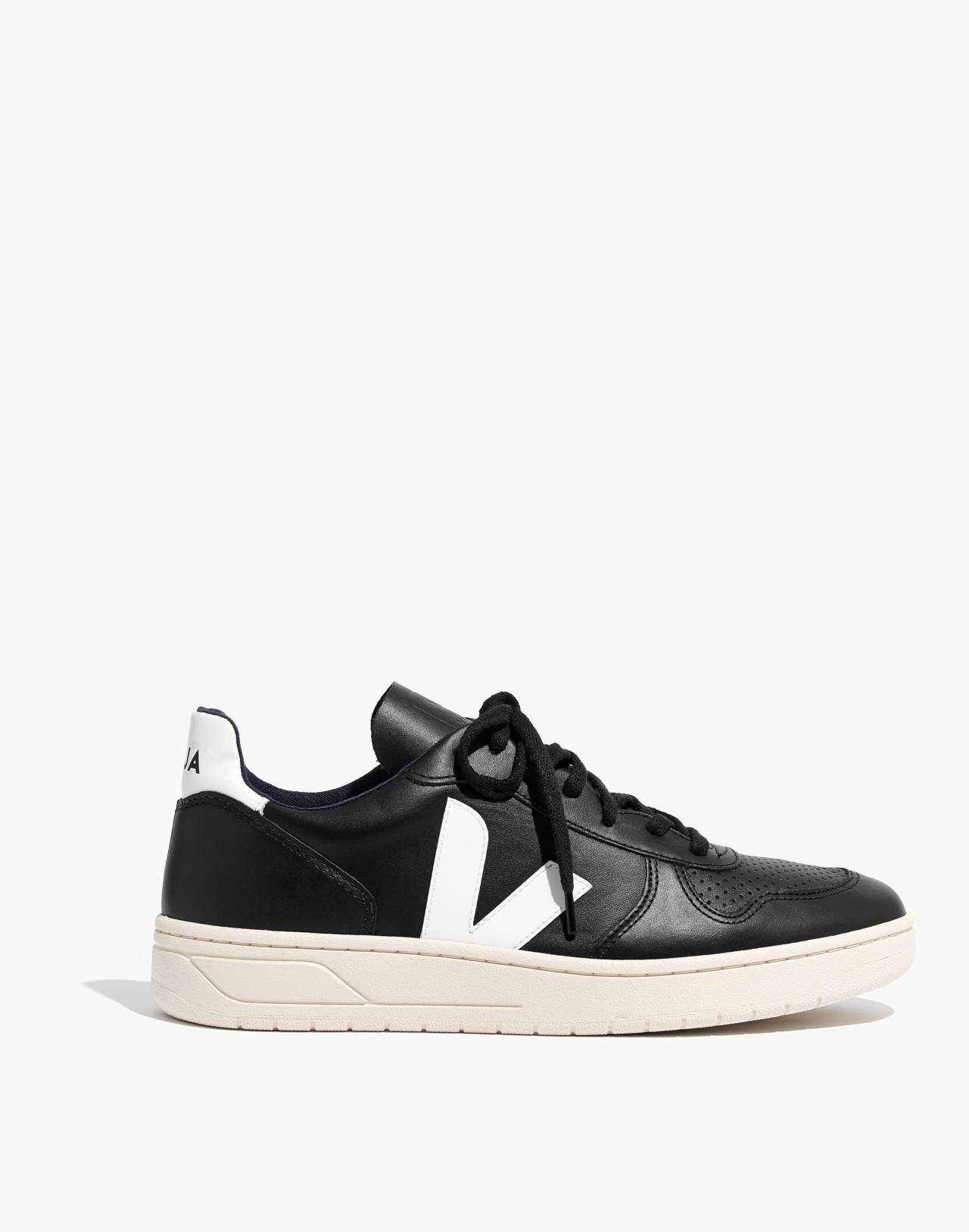 Veja™ Men's V-10 Sneakers in black white image 1