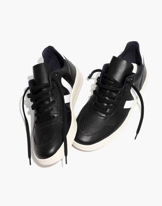 Veja™ Men's V-10 Sneakers in black white image 2