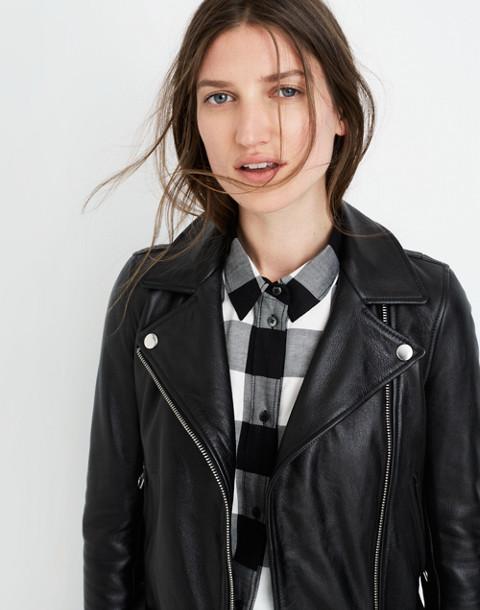 Ultimate Leather Motorcycle Jacket in true black image 3