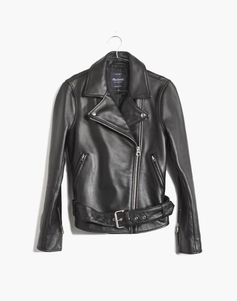 Ultimate Leather Motorcycle Jacket in true black image 4