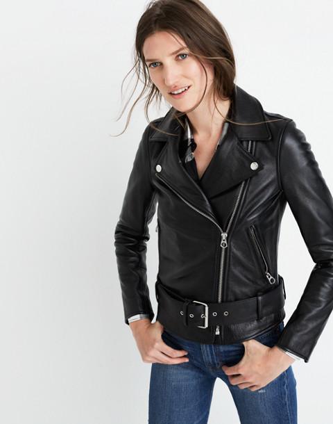 Ultimate Leather Motorcycle Jacket in true black image 1