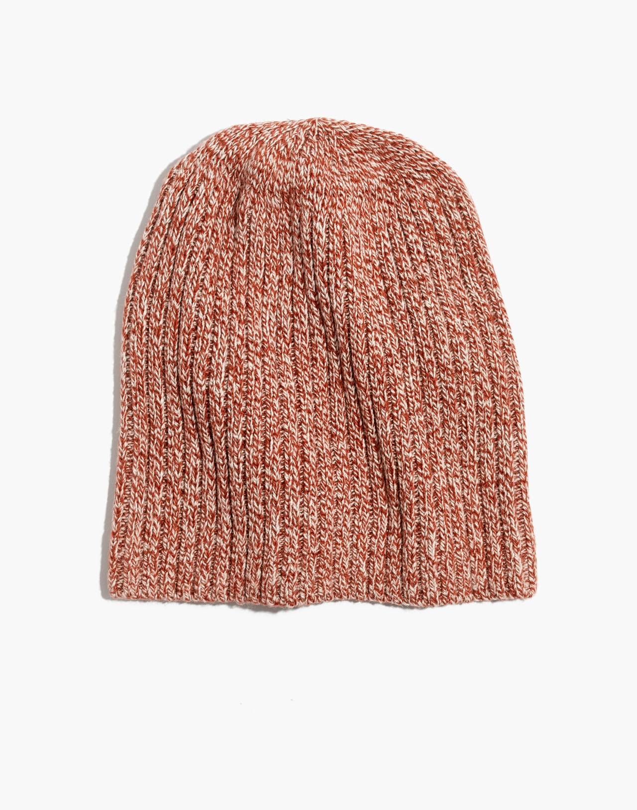 Slouch Beanie in deep amber image 1