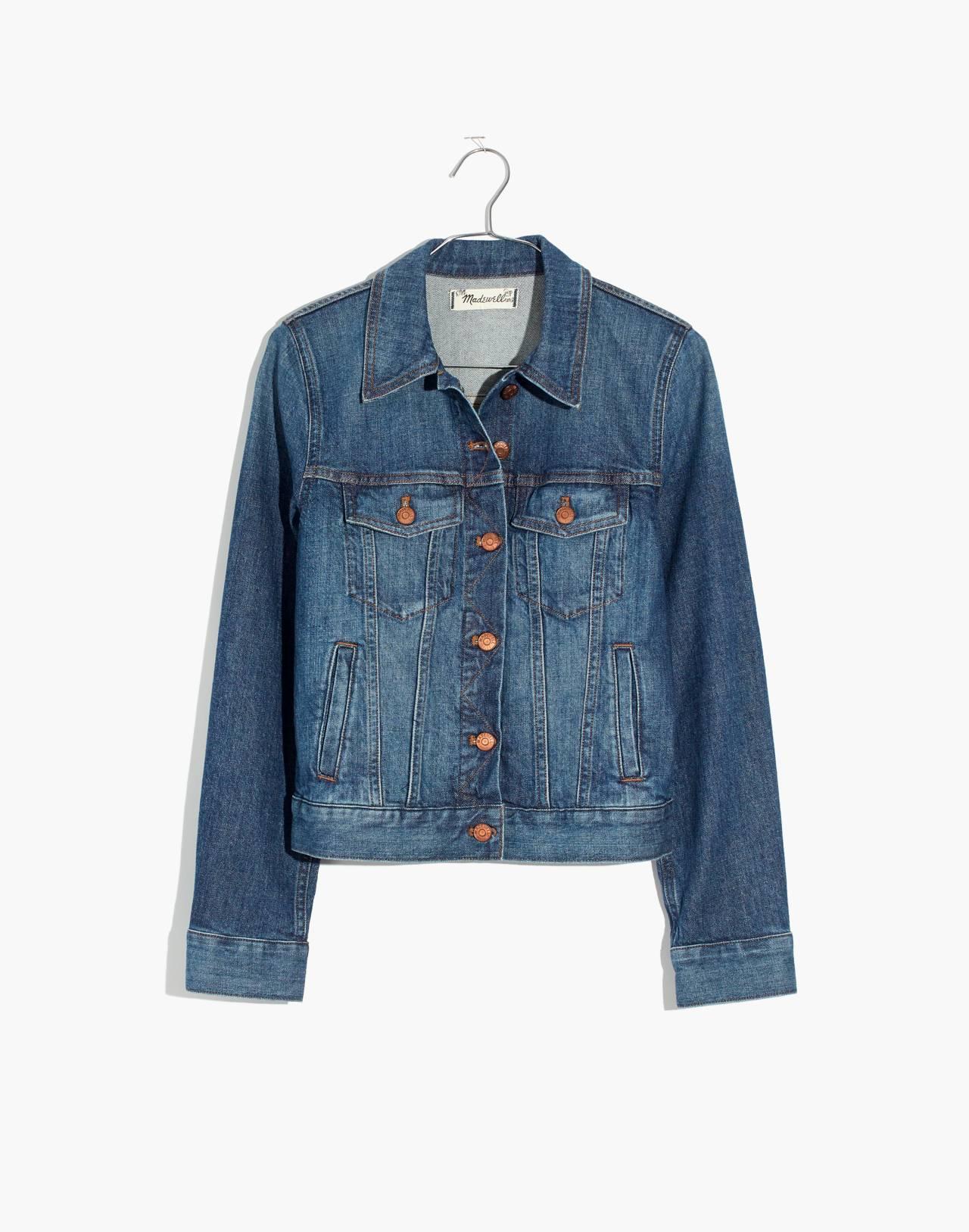The Shrunken Stretch Jean Jacket: Eco Edition in vintage light image 4