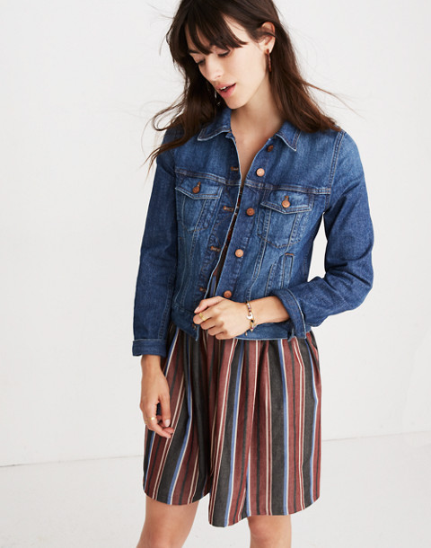The Shrunken Stretch Jean Jacket: Eco Edition in vintage light image 1