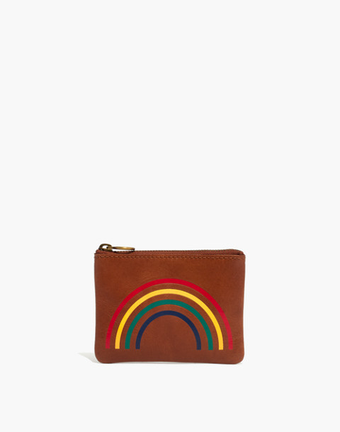 The Leather Pouch Wallet: Rainbow Edition in english saddle image 1