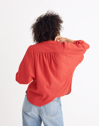 Peasant Top in cranberry image 3