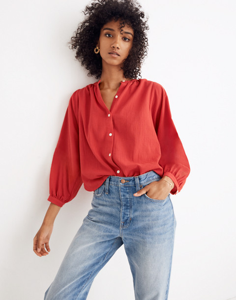 Peasant Top in cranberry image 1