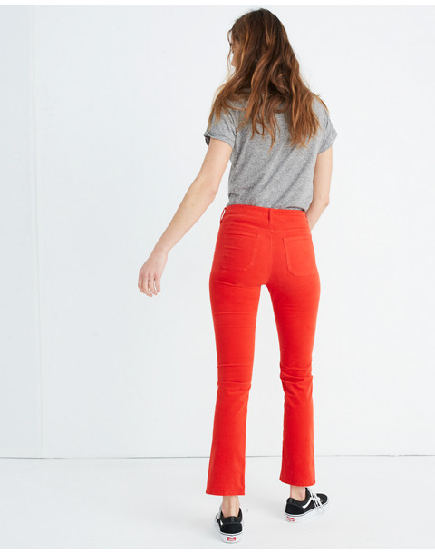 M.i.h® High-Rise Straight Jeans in Velvet in cherry red image 3