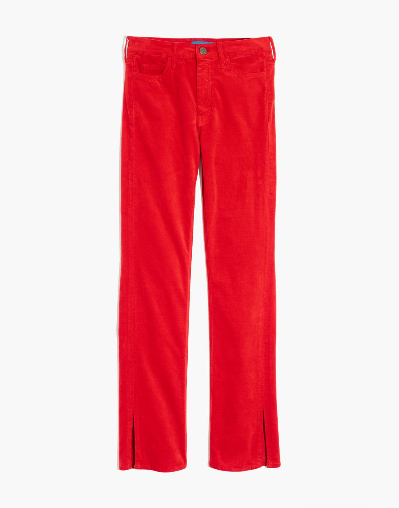M.i.h® High-Rise Straight Jeans in Velvet in cherry red image 4