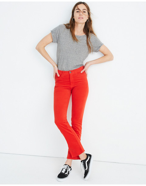 M.i.h® High-Rise Straight Jeans in Velvet in cherry red image 1
