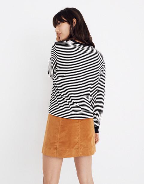 Striped Long-Sleeve Tee in true black image 3