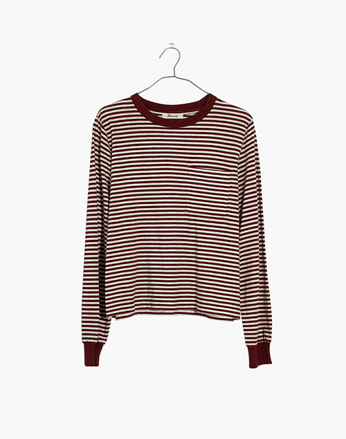 de416e5998 Striped Long-Sleeve Tee in maple syrup image 1