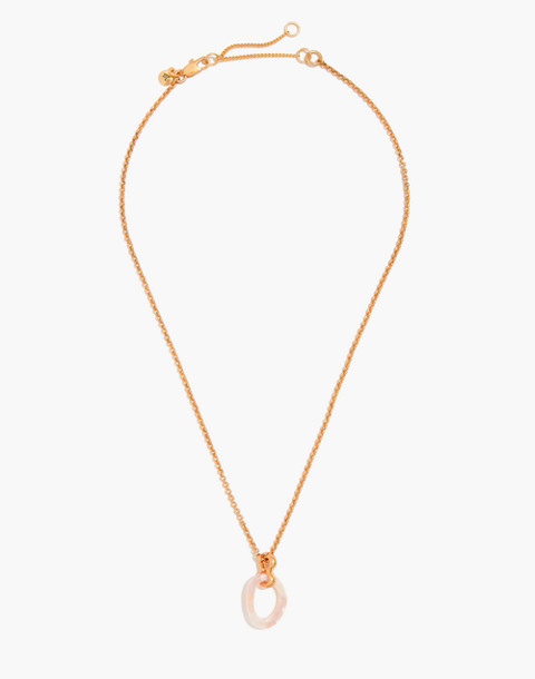 Acrylic Link Necklace in blush tort image 2