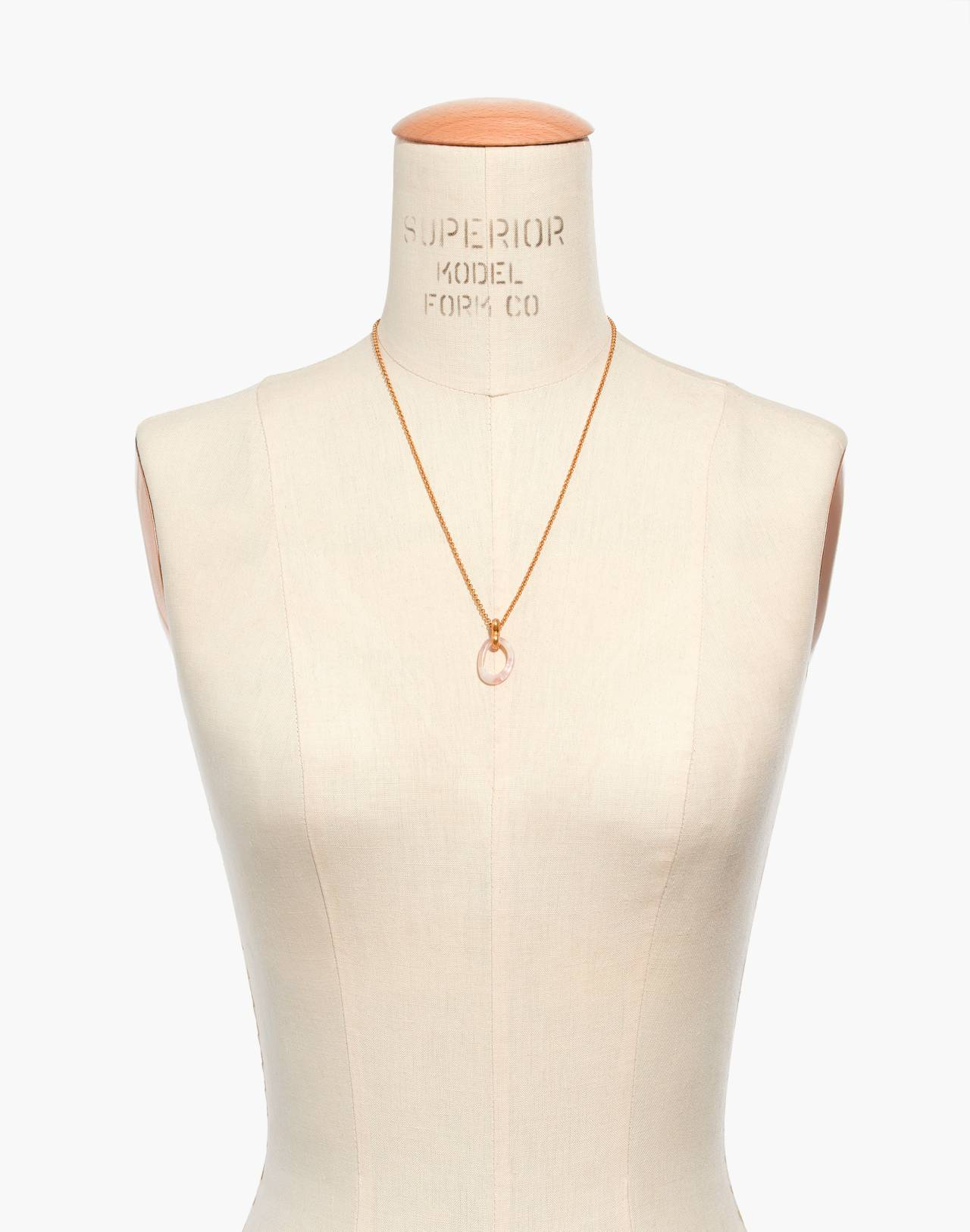 Acrylic Link Necklace in blush tort image 3