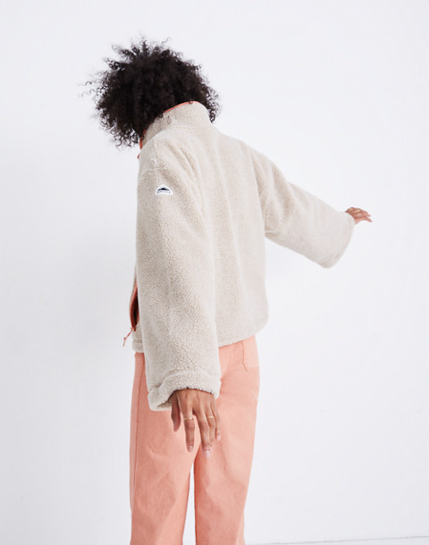 Madewell x Penfield® Haight Fleece Jacket in ivory pink image 3