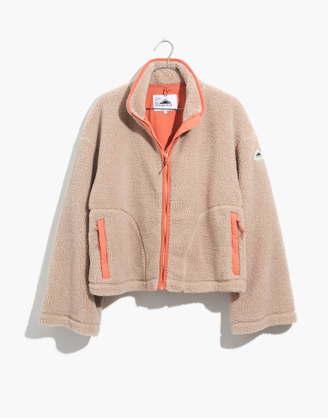 Madewell x Penfield® Haight Fleece Jacket in ivory pink image 4