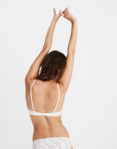 Cotton-Modal® Eliza Cutout Bralette in Starry Sky in pearl ivory image 3