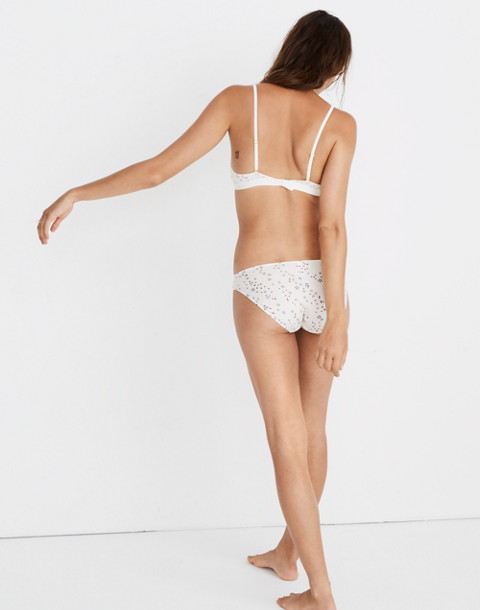 Cotton-Modal® Bikini in Starry Sky in pearl ivory image 3