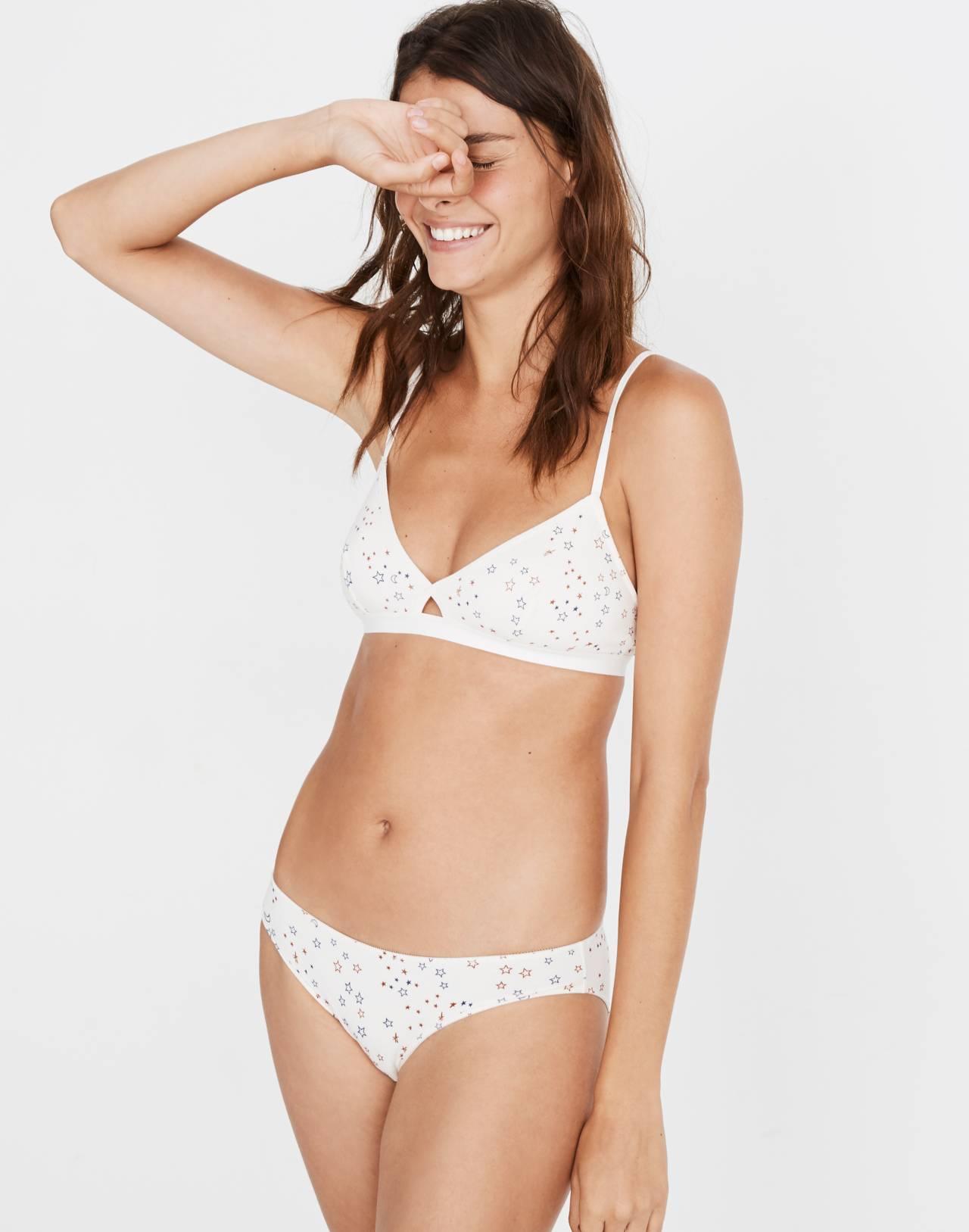 Cotton-Modal® Bikini in Starry Sky in pearl ivory image 1