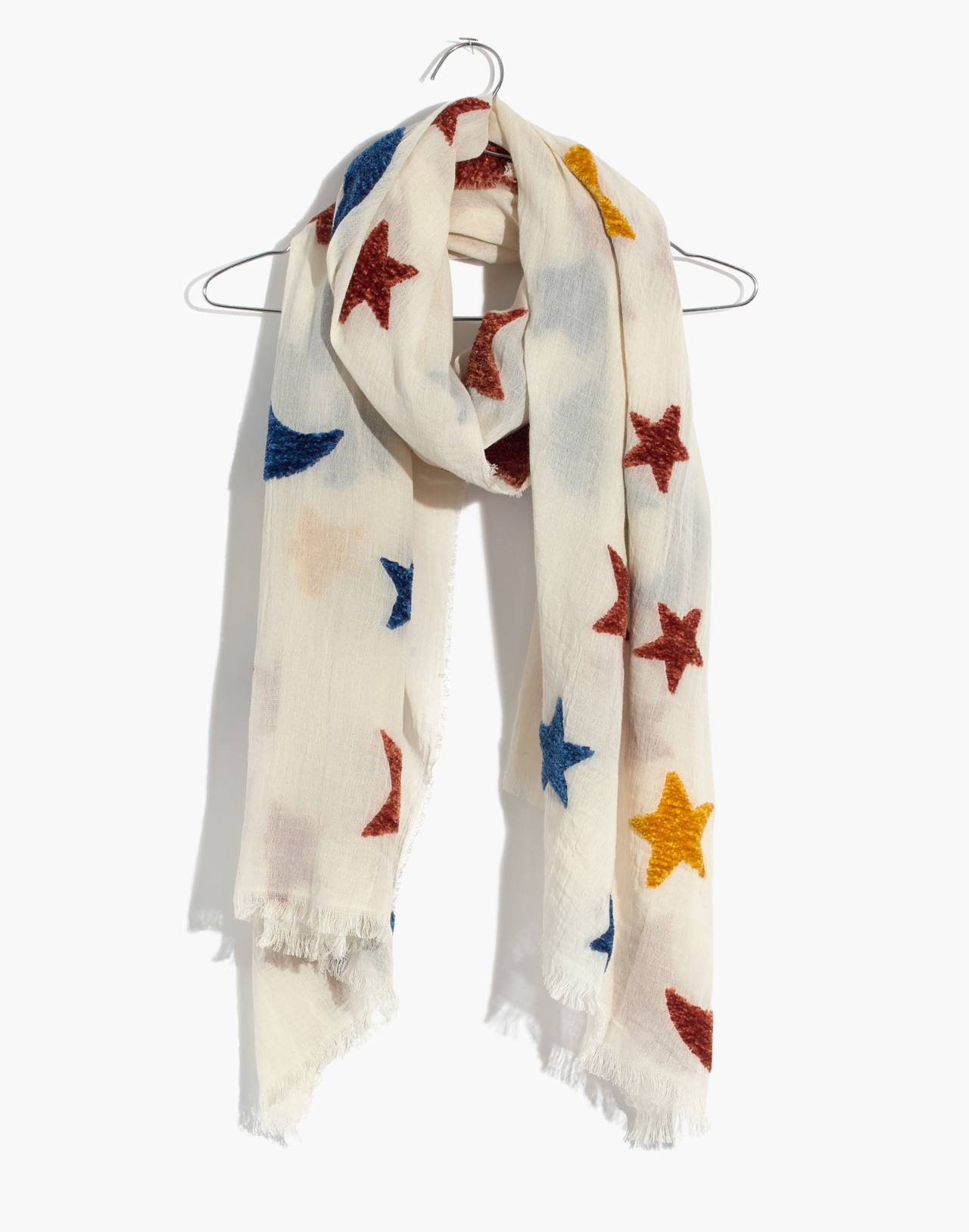 Starry Night Chenille Scarf in antique cream image 1