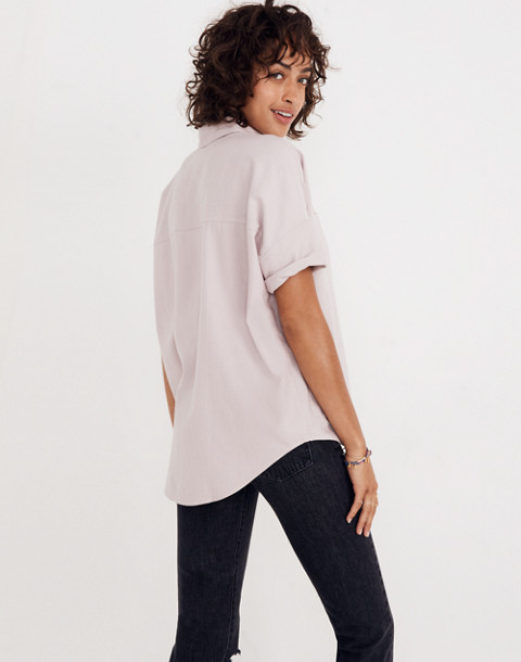 Flannel Courier Shirt in wisteria dove image 2