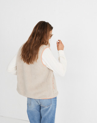 Madewell x Penfield® Lucan Fleece Vest in ivory pink image 2