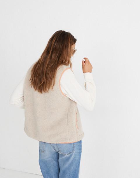 Madewell x Penfield® Lucan Fleece Vest in ivory pink image 2