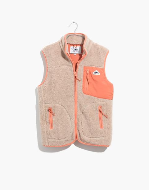 Madewell x Penfield® Lucan Fleece Vest in ivory pink image 4